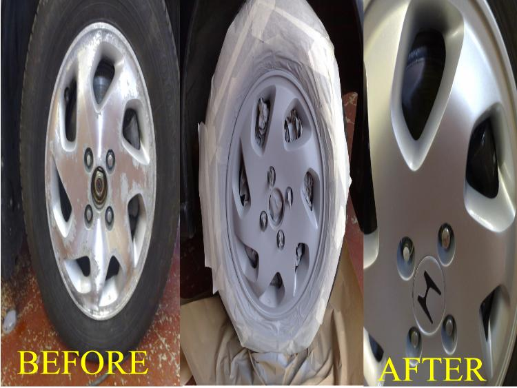 KERBED ALLOYS CAN LOSE YOU A SALE WE REPAINT ALLOYS FOR THE TRADE AND PRIVATE CUSTOMERS AL OVER BIRMINGHAM WORCESTER AND THE WEST MIDLANDS LEASE CARS HIRE CARS FLEAT CARS ALL REPAIRED AND REPAINTED ON SITE.